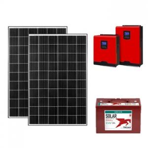 1.26kw off grid paket güneşten elektrik üretimi fotovoltaik sistem photovoltaic system