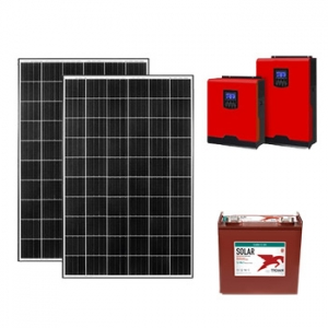 10kw off grid paket güneşten elektrik üretimi fotovoltaik sistem photovoltaic system