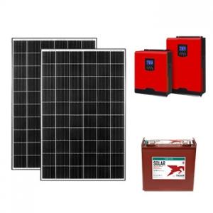 2.5kw off grid paket güneşten elektrik üretimi fotovoltaik sistem photovoltaic system