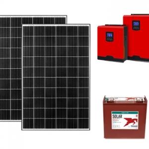 5kw off grid paket güneşten elektrik üretimi fotovoltaik sistem photovoltaic system