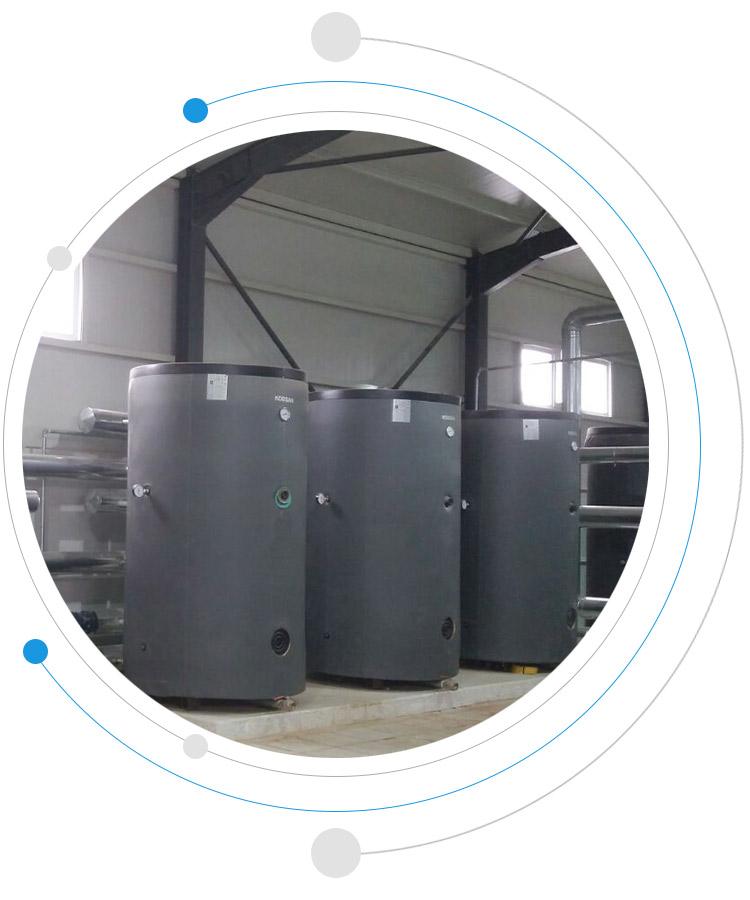 buffer tank endüstriyel tip büyük kapasite boyler kazan su ısıtma kazanı