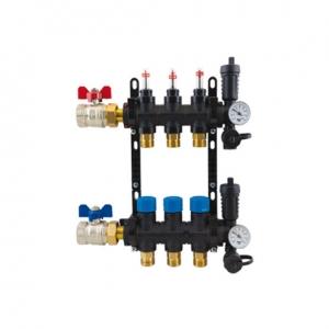 10 ağızlı dağıtım kollektörü yerden ısıtma radyant ısıtma sistemleri
