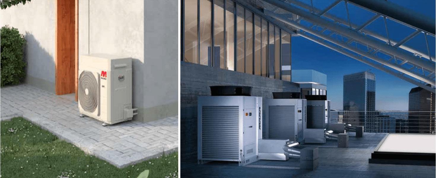 büyük kapasite ısı pompası hava kaynaklı inverter ısı pompası